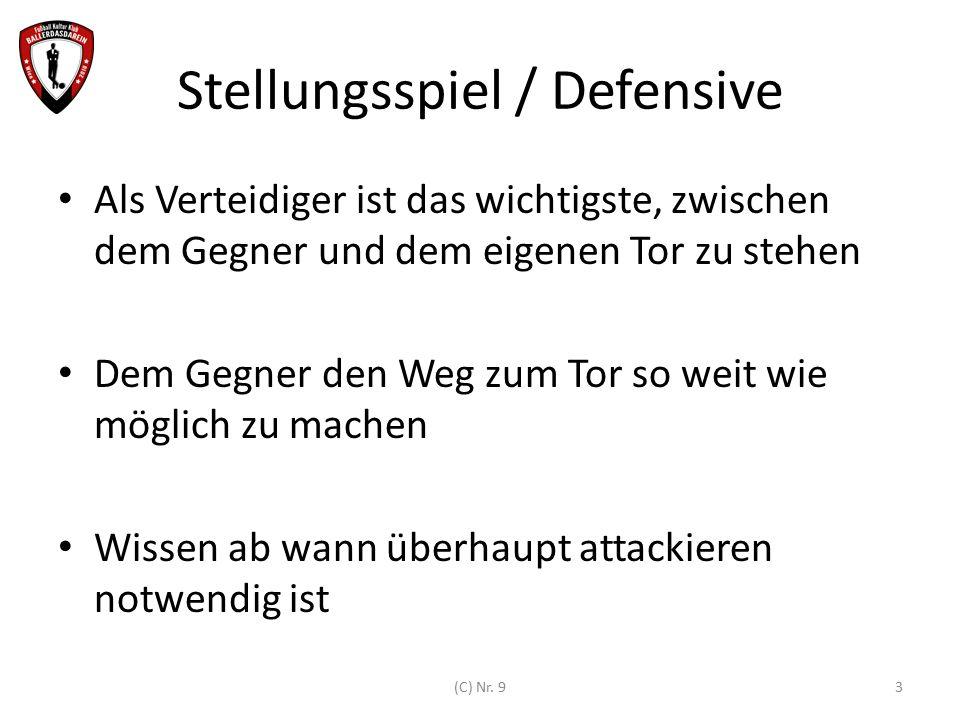 Stellungsspiel / Defensive