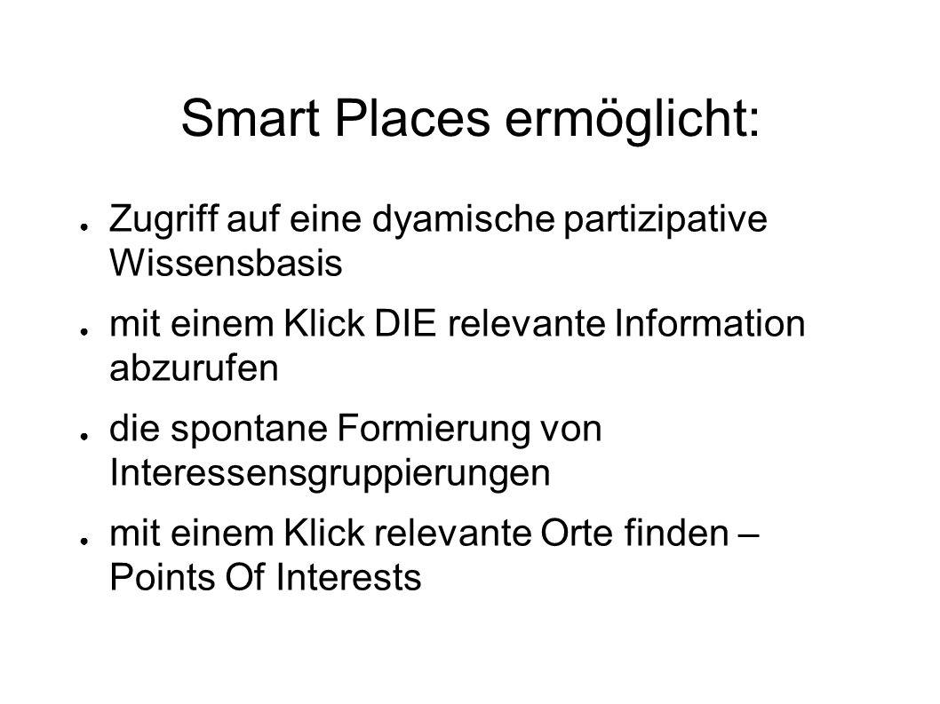 Smart Places ermöglicht: