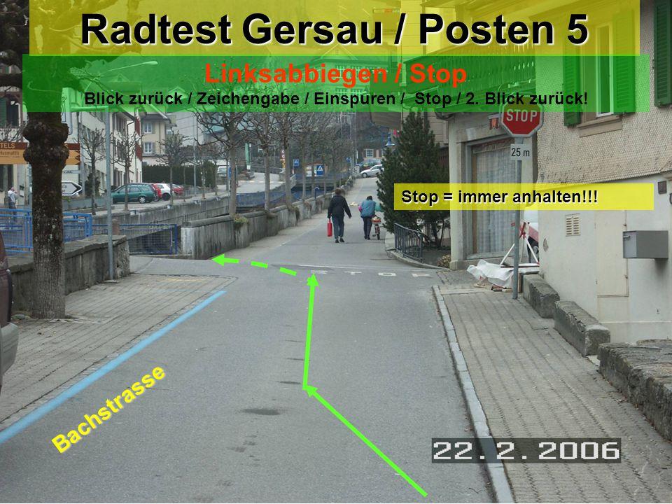 Radtest Gersau / Posten 5