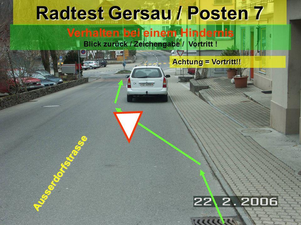 Radtest Gersau / Posten 7