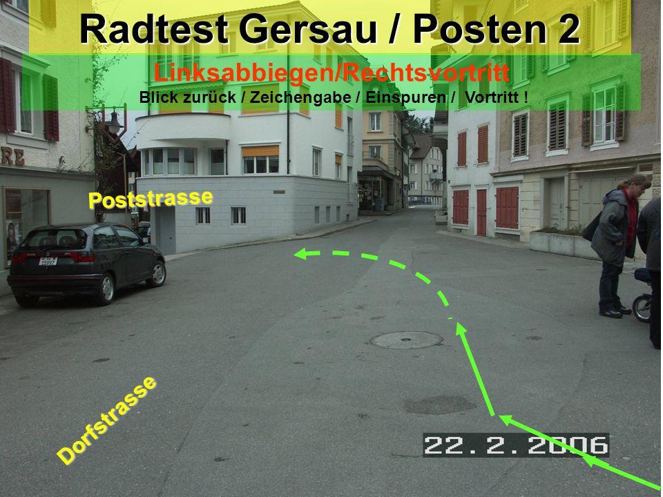 Radtest Gersau / Posten 2