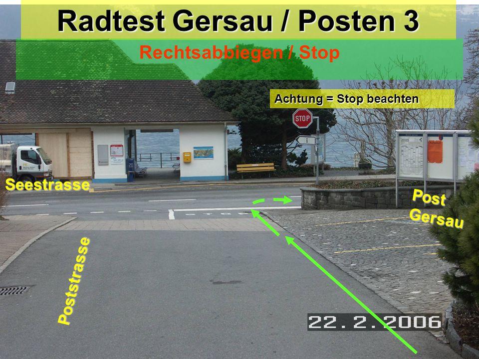 Radtest Gersau / Posten 3