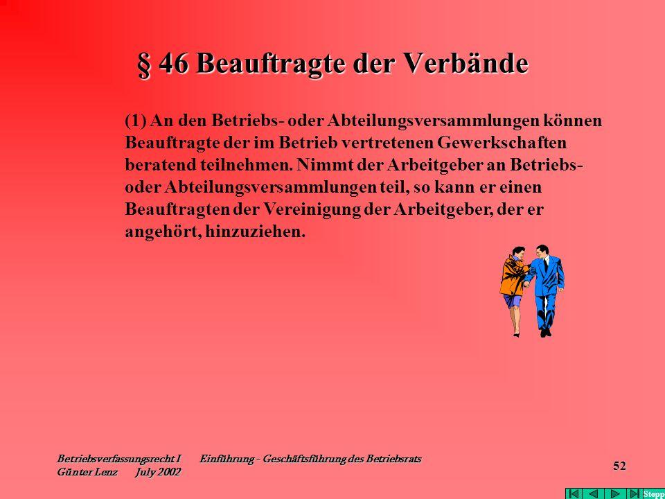 § 46 Beauftragte der Verbände