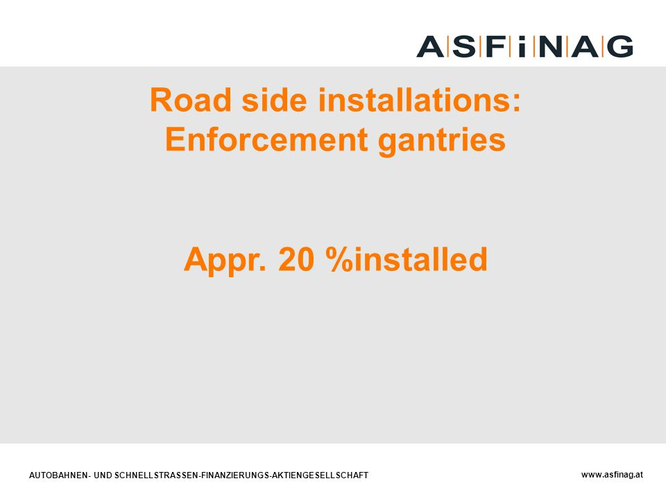 Road side installations: