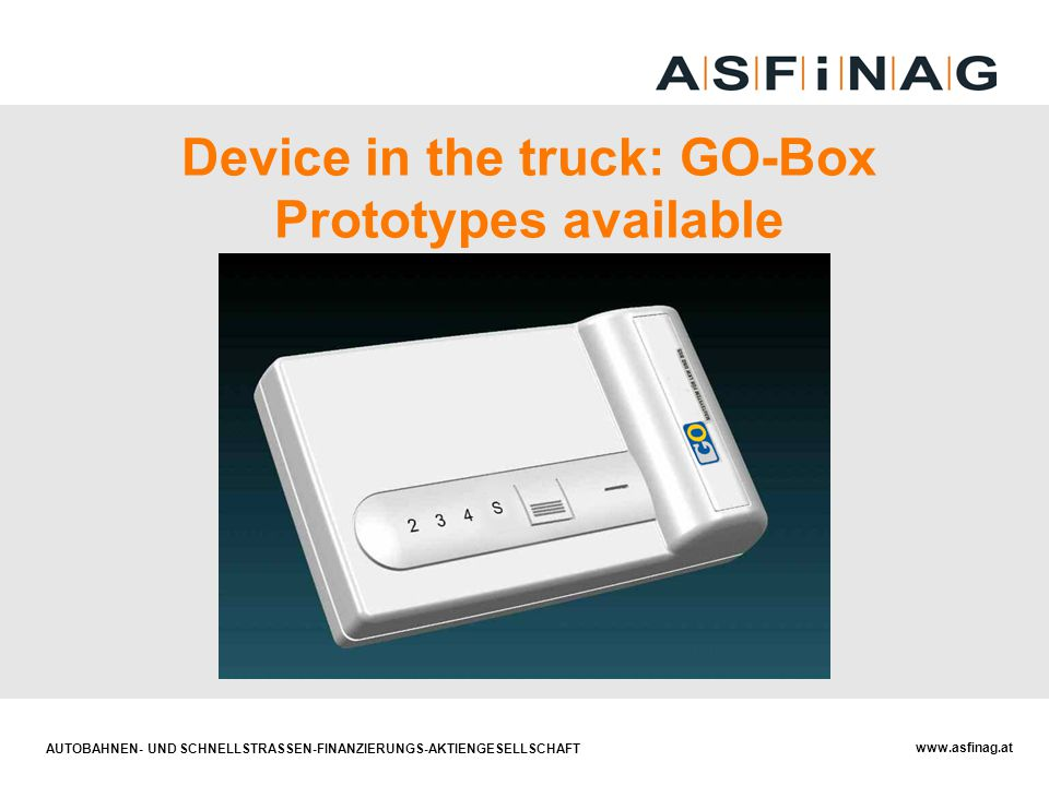 Device in the truck: GO-Box