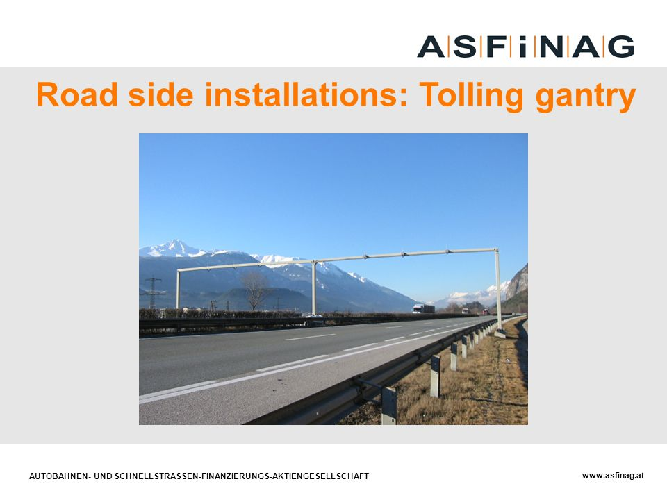 Road side installations: Tolling gantry