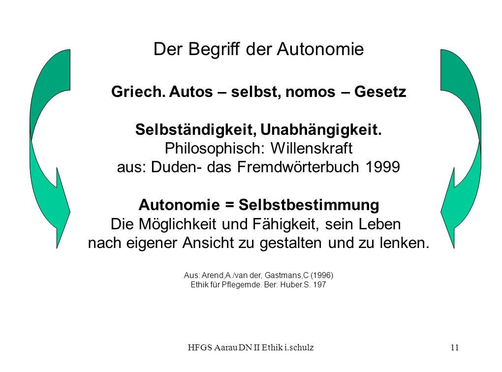 Der Begriff der Autonomie