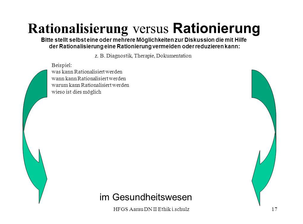 der Rationalisierung eine Rationierung vermeiden oder reduzieren kann:
