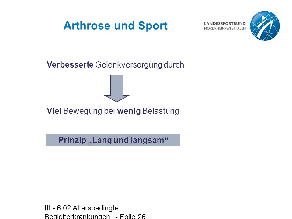 """Prinzip """"Lang und langsam"""