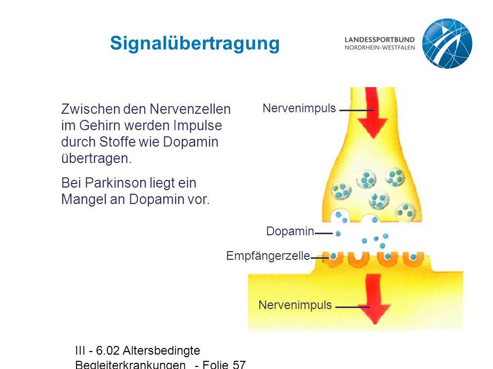 Signalübertragung Nervenimpuls. Dopamin. Empfängerzelle. Zwischen den Nervenzellen im Gehirn werden Impulse durch Stoffe wie Dopamin übertragen.