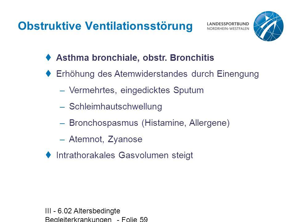 Obstruktive Ventilationsstörung