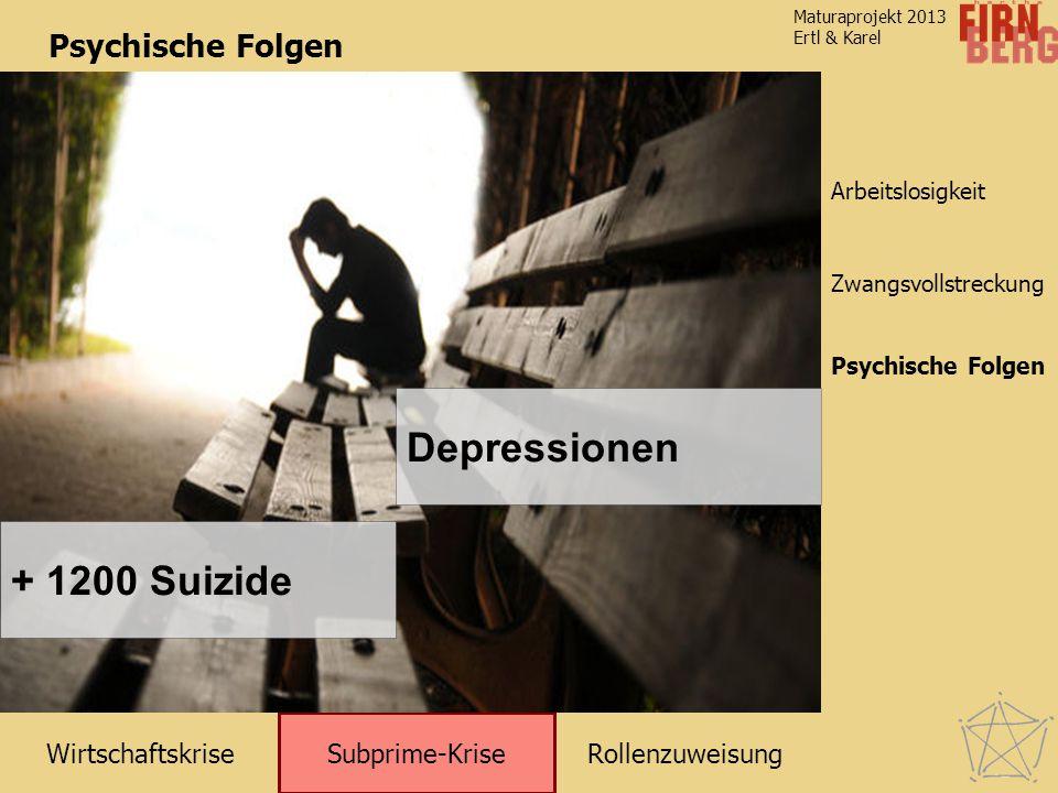 Depressionen + 1200 Suizide Psychische Folgen Psychische Folgen