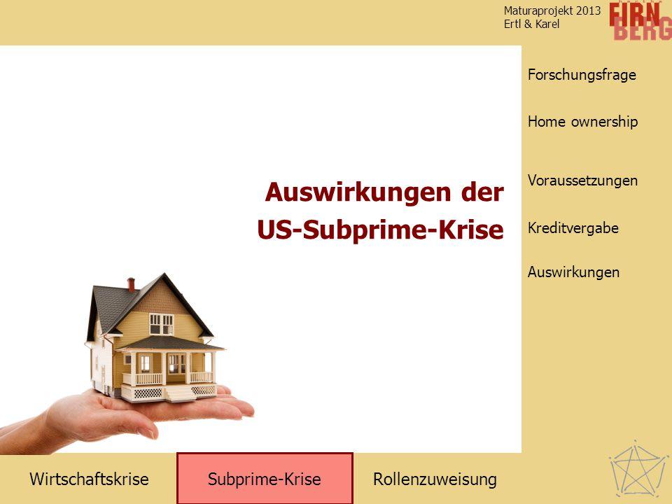 Auswirkungen der US-Subprime-Krise