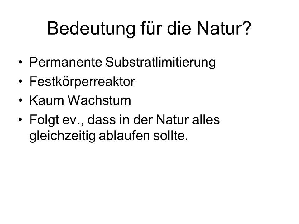 Bedeutung für die Natur