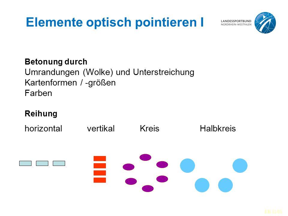 Elemente optisch pointieren I