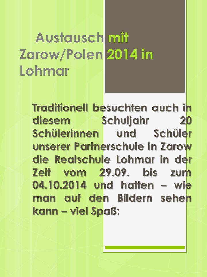 Austausch mit Zarow/Polen 2014 in Lohmar