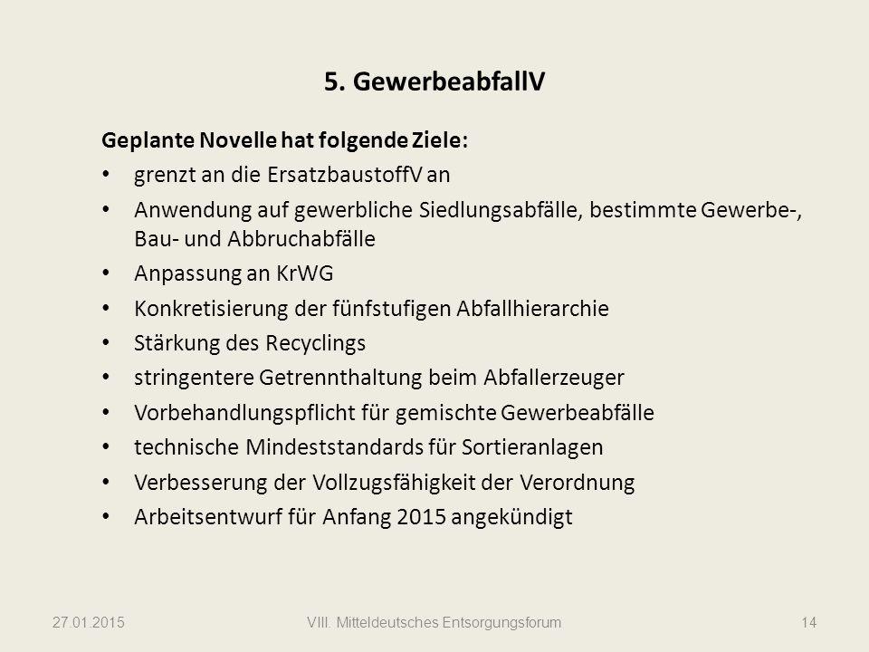 VIII. Mitteldeutsches Entsorgungsforum