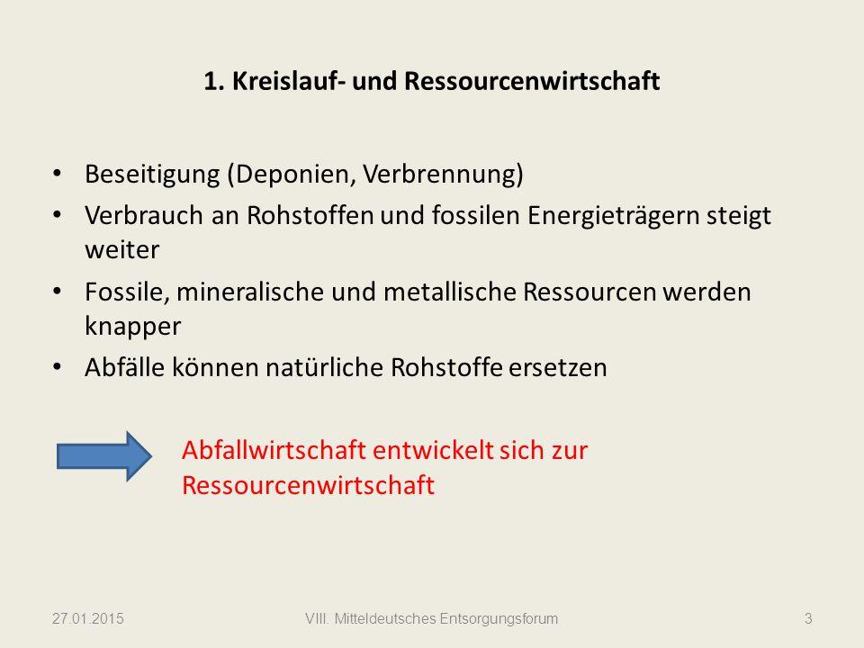 1. Kreislauf- und Ressourcenwirtschaft
