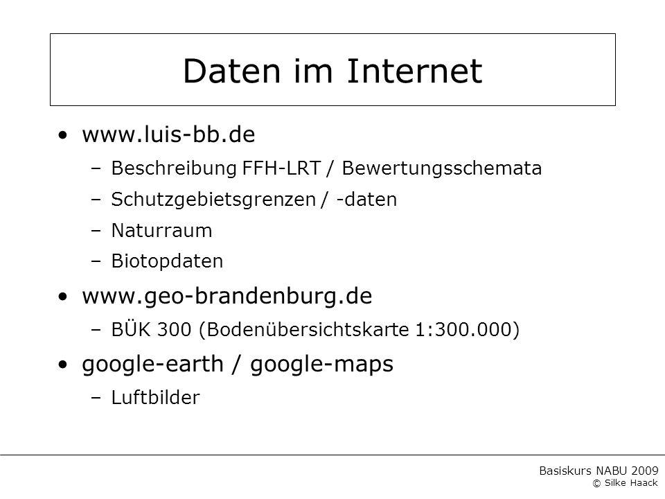 Daten im Internet www.luis-bb.de www.geo-brandenburg.de