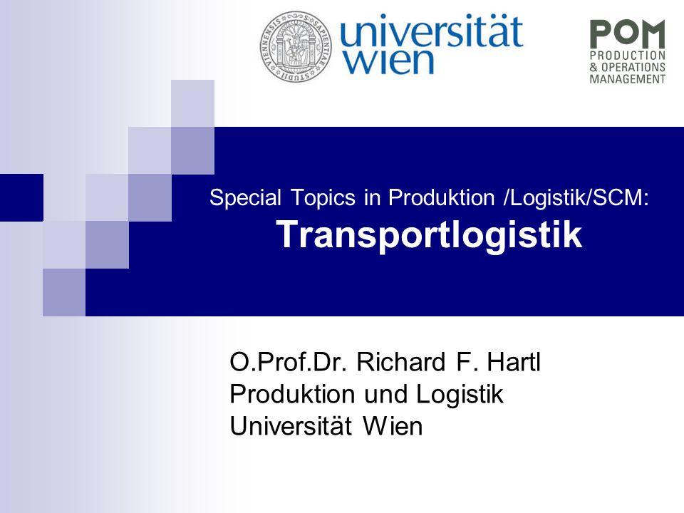 Special Topics in Produktion /Logistik/SCM: Transportlogistik