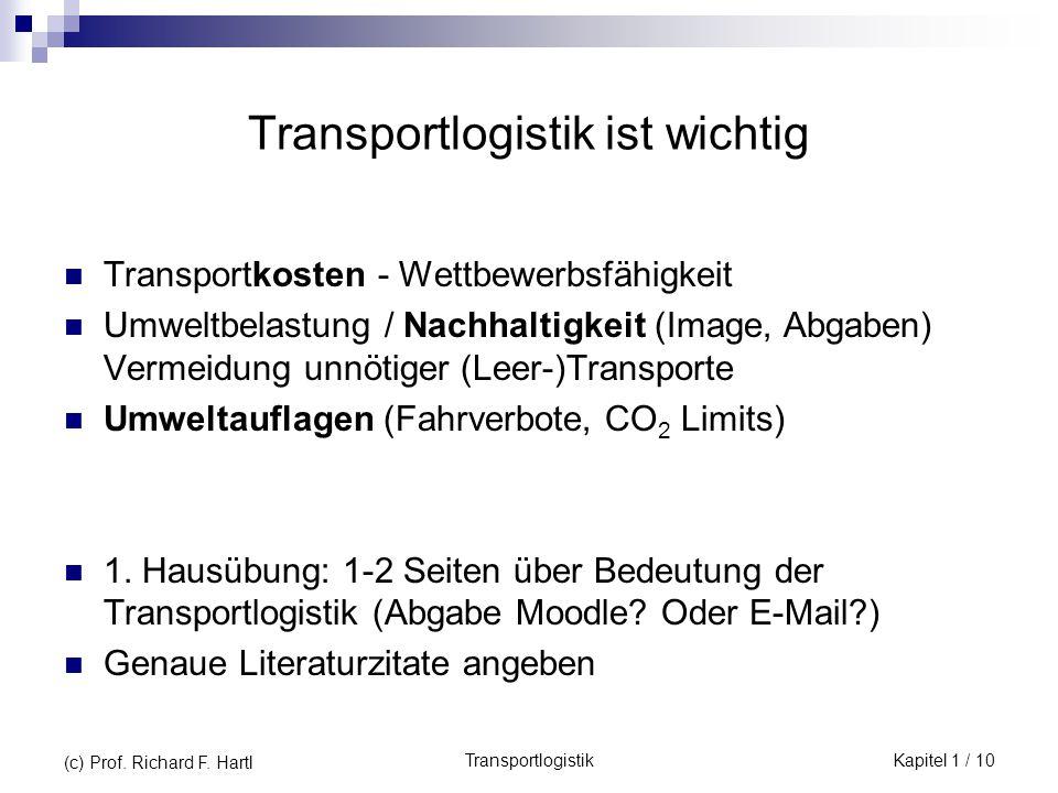 Transportlogistik ist wichtig