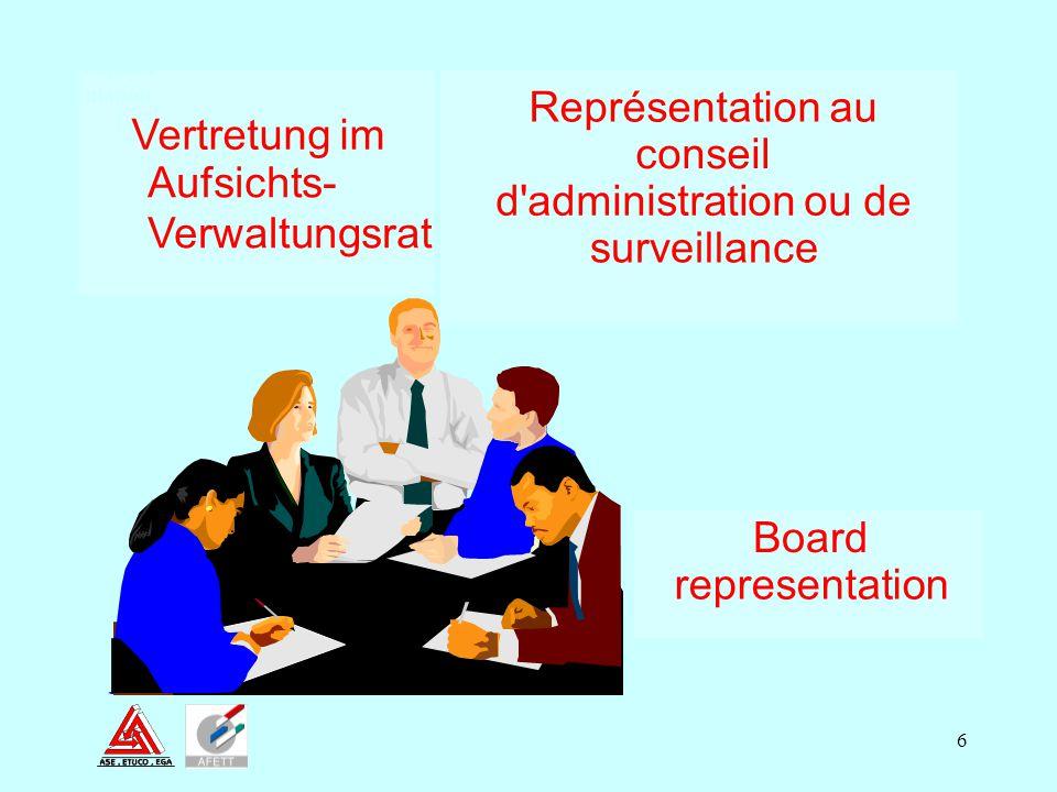 Représentation au Vertretung im conseil Aufsichts-