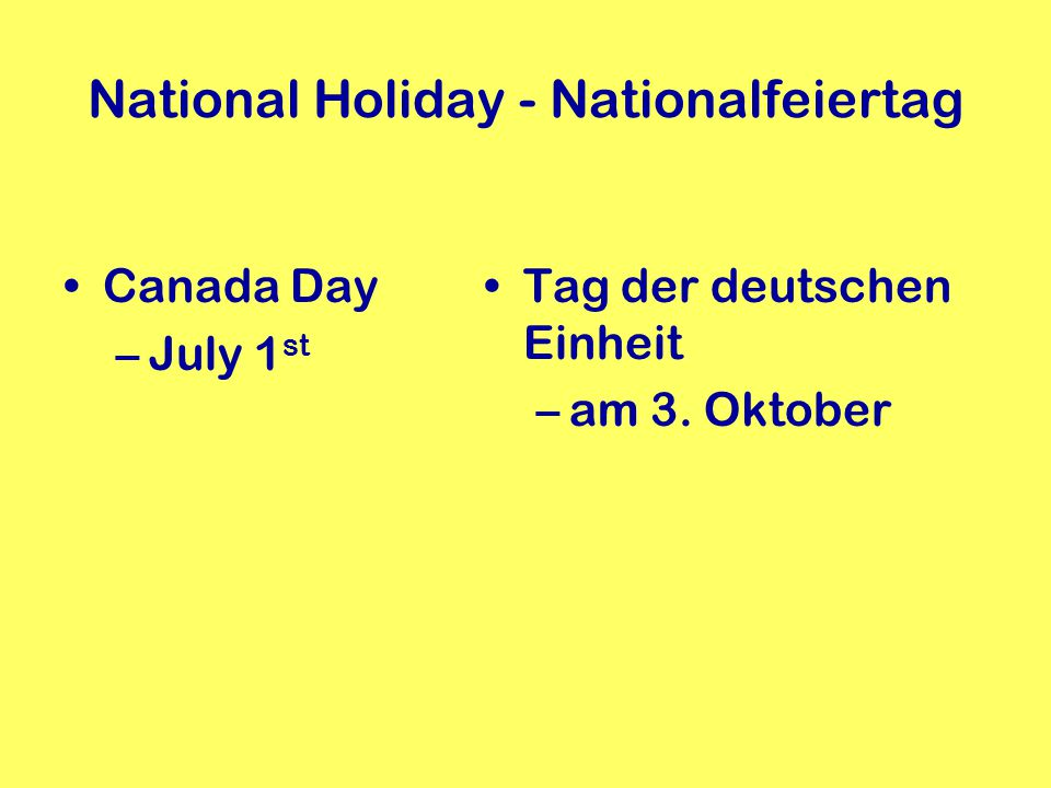 National Holiday - Nationalfeiertag
