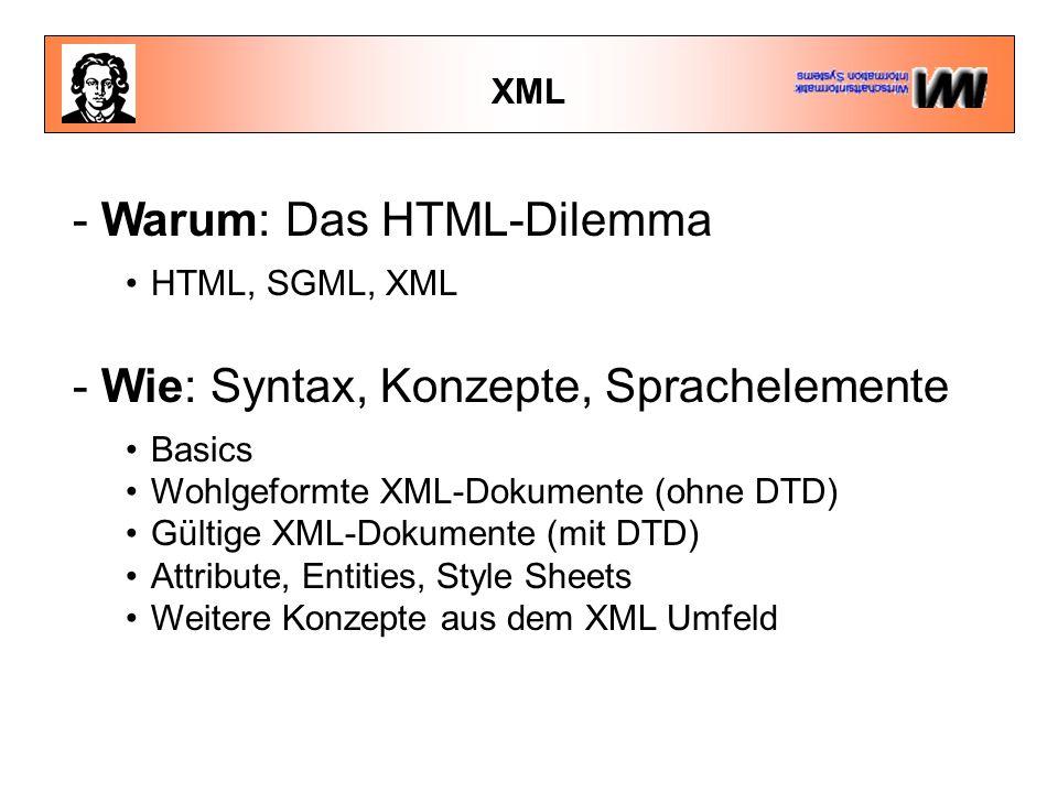 - Warum: Das HTML-Dilemma