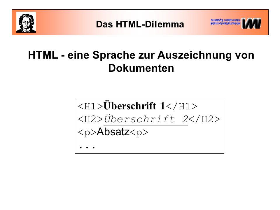 HTML - eine Sprache zur Auszeichnung von Dokumenten