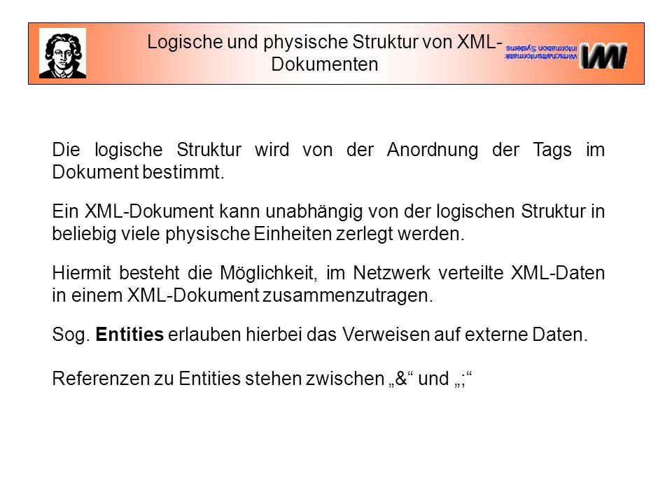 Logische und physische Struktur von XML-Dokumenten