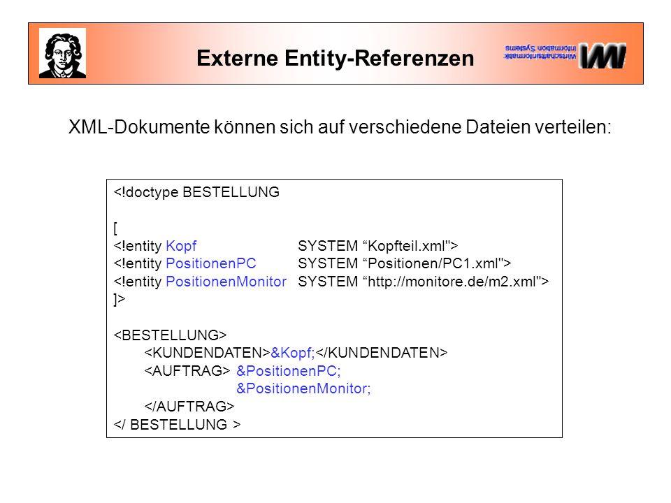 Externe Entity-Referenzen