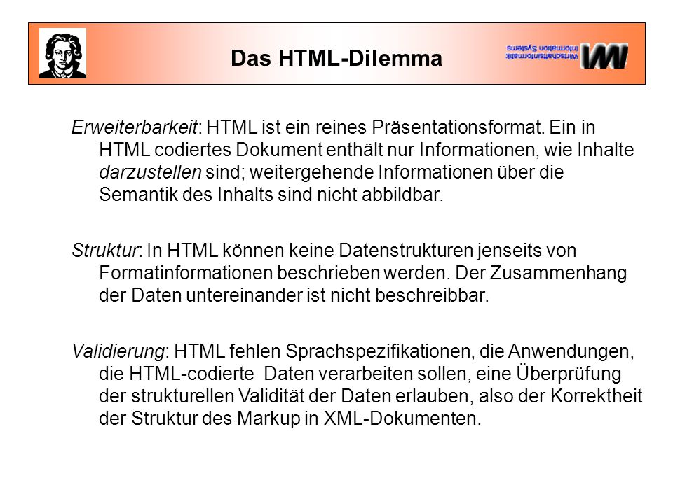 Das HTML-Dilemma