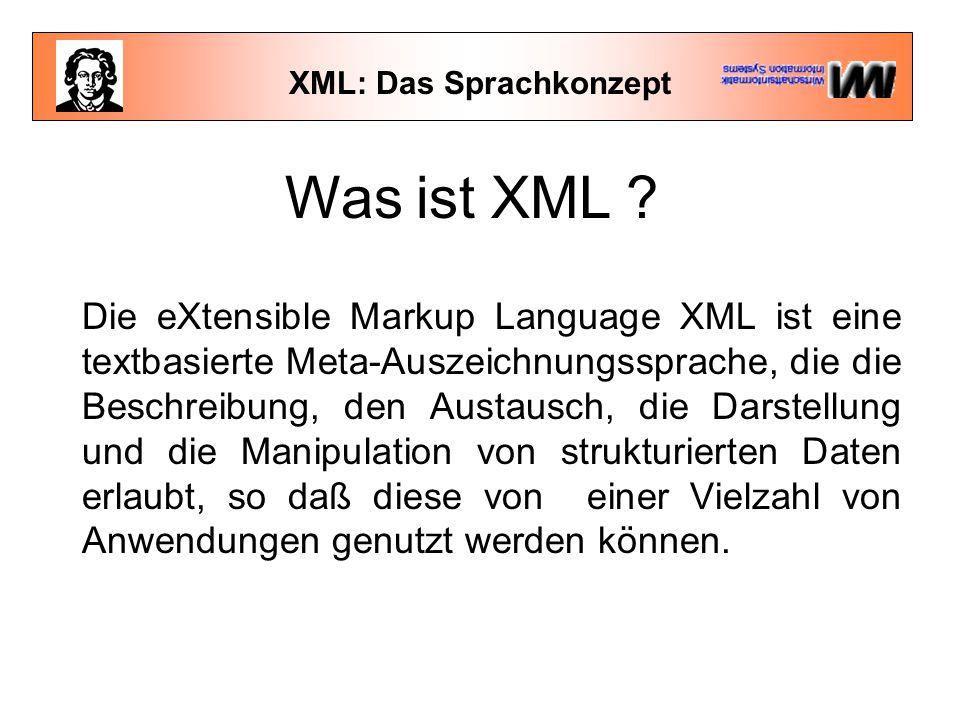XML: Das Sprachkonzept