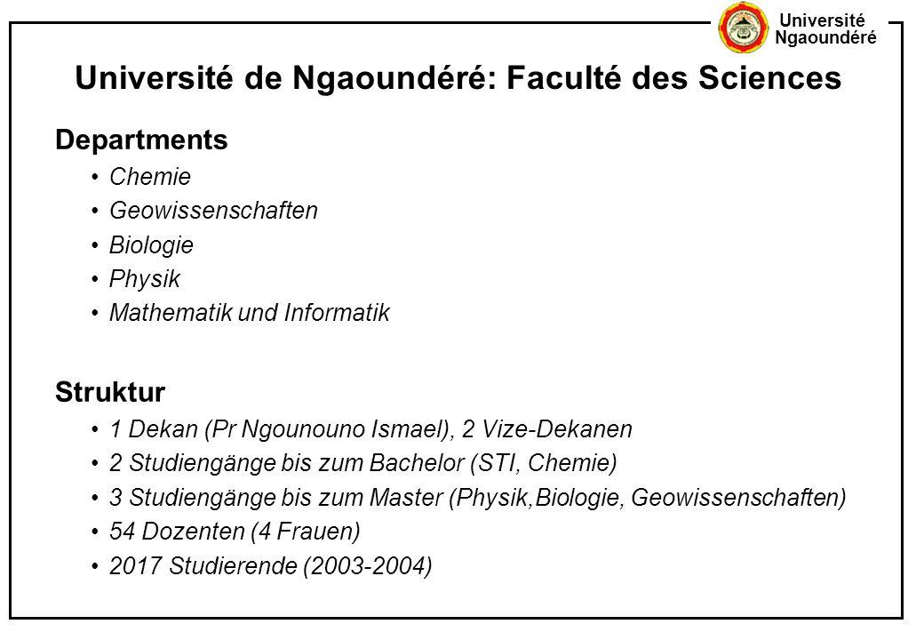 Université de Ngaoundéré: Faculté des Sciences