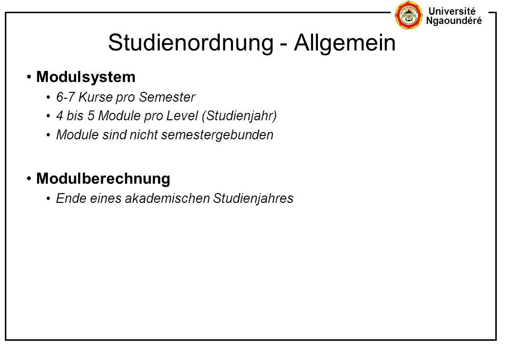 Studienordnung - Allgemein