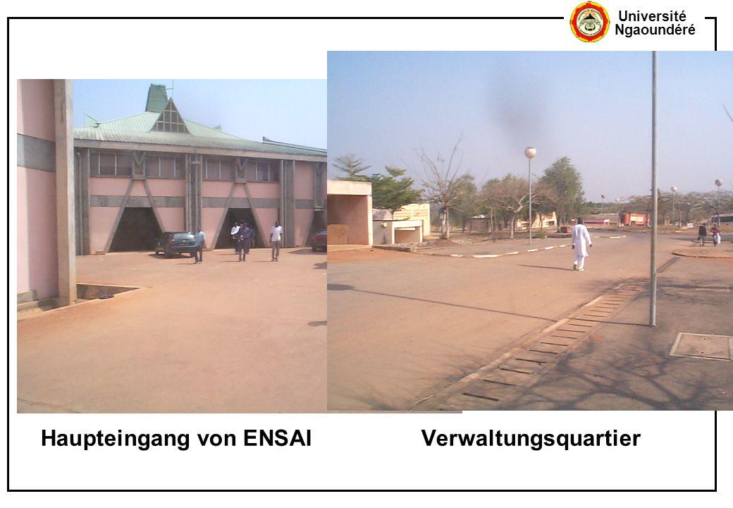 Haupteingang von ENSAI Verwaltungsquartier