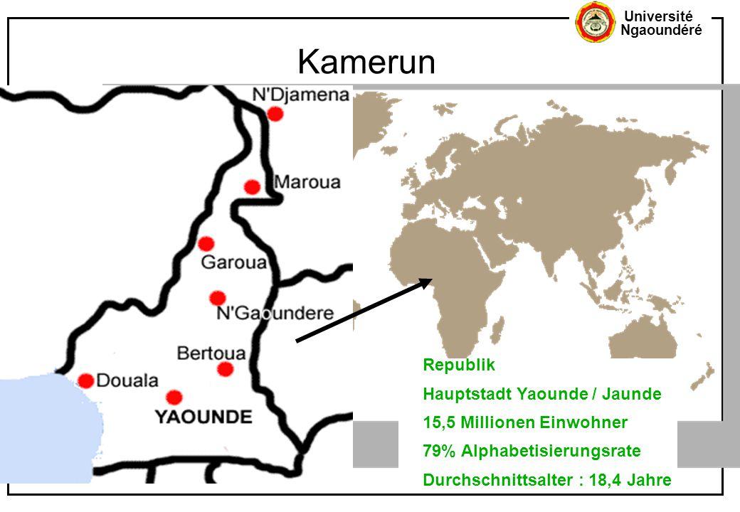 Kamerun ... Republik Hauptstadt Yaounde / Jaunde