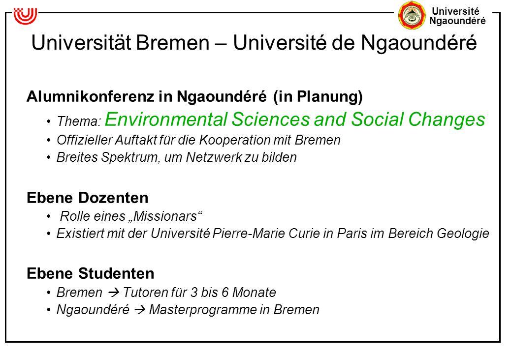 Universität Bremen – Université de Ngaoundéré