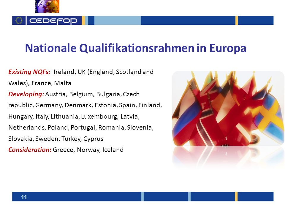 Nationale Qualifikationsrahmen in Europa