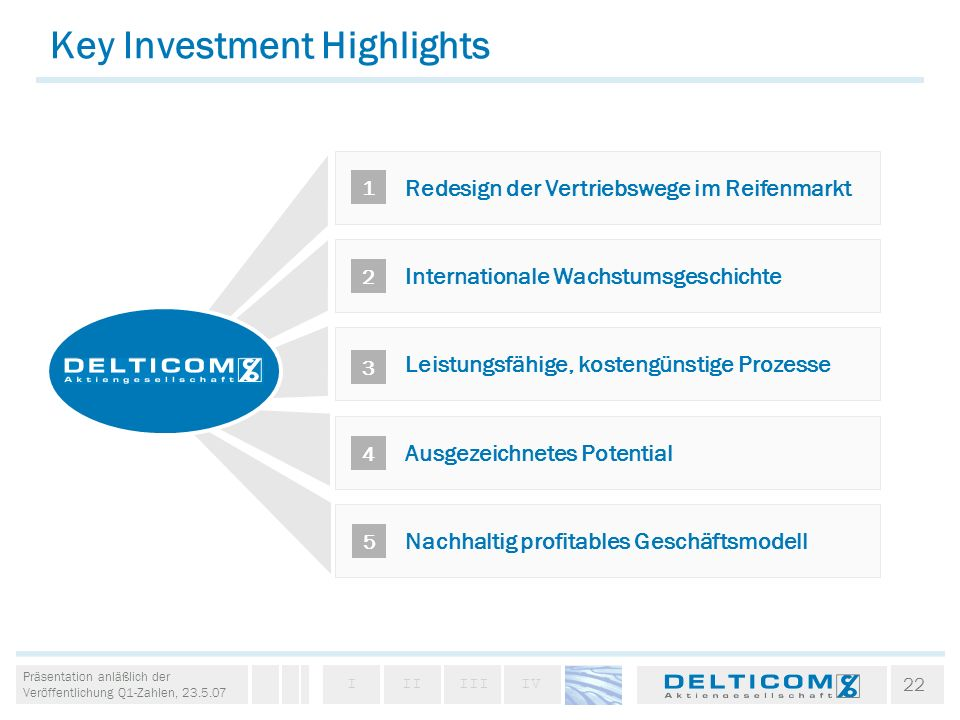 Key Investment Highlights