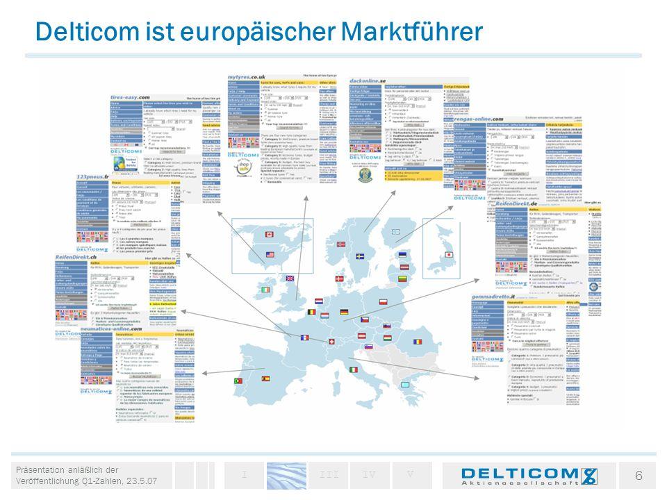 Delticom ist europäischer Marktführer