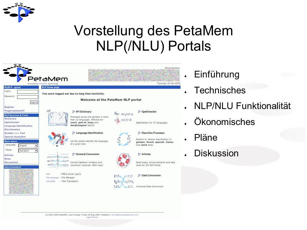 Vorstellung des PetaMem NLP(/NLU) Portals