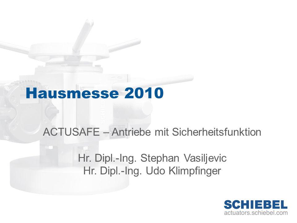 Hausmesse 2010 ACTUSAFE – Antriebe mit Sicherheitsfunktion