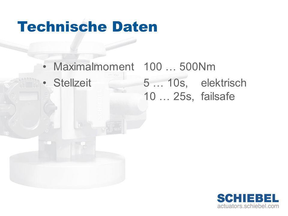 Technische Daten Maximalmoment 100 … 500Nm