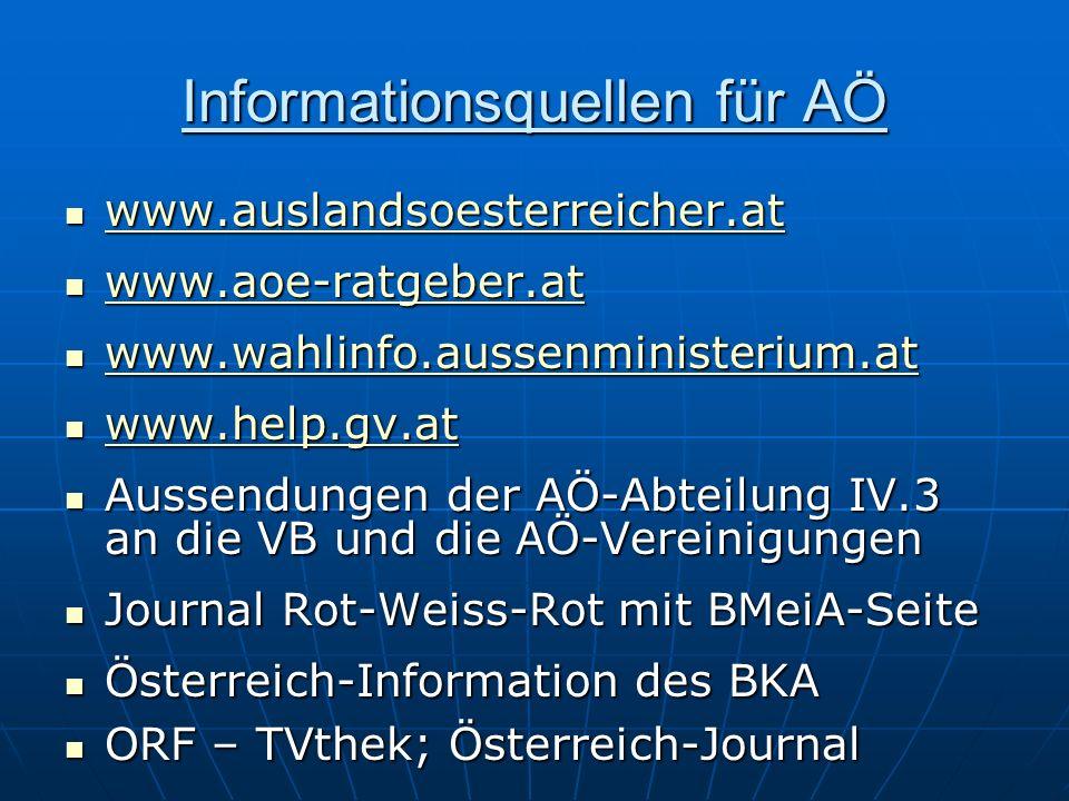 Informationsquellen für AÖ