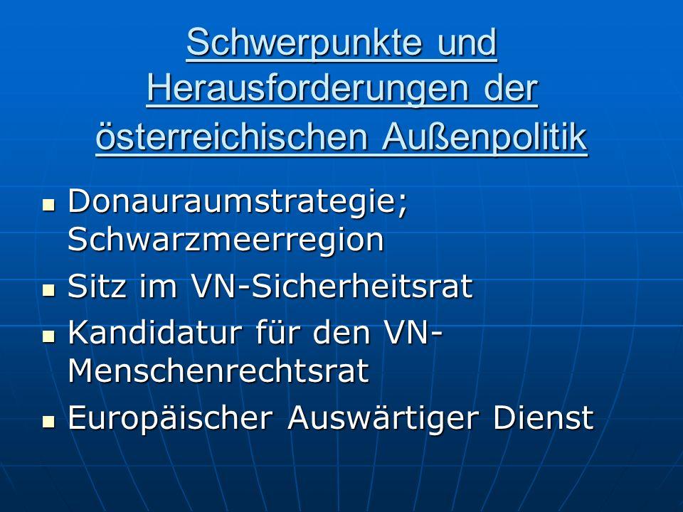 Schwerpunkte und Herausforderungen der österreichischen Außenpolitik