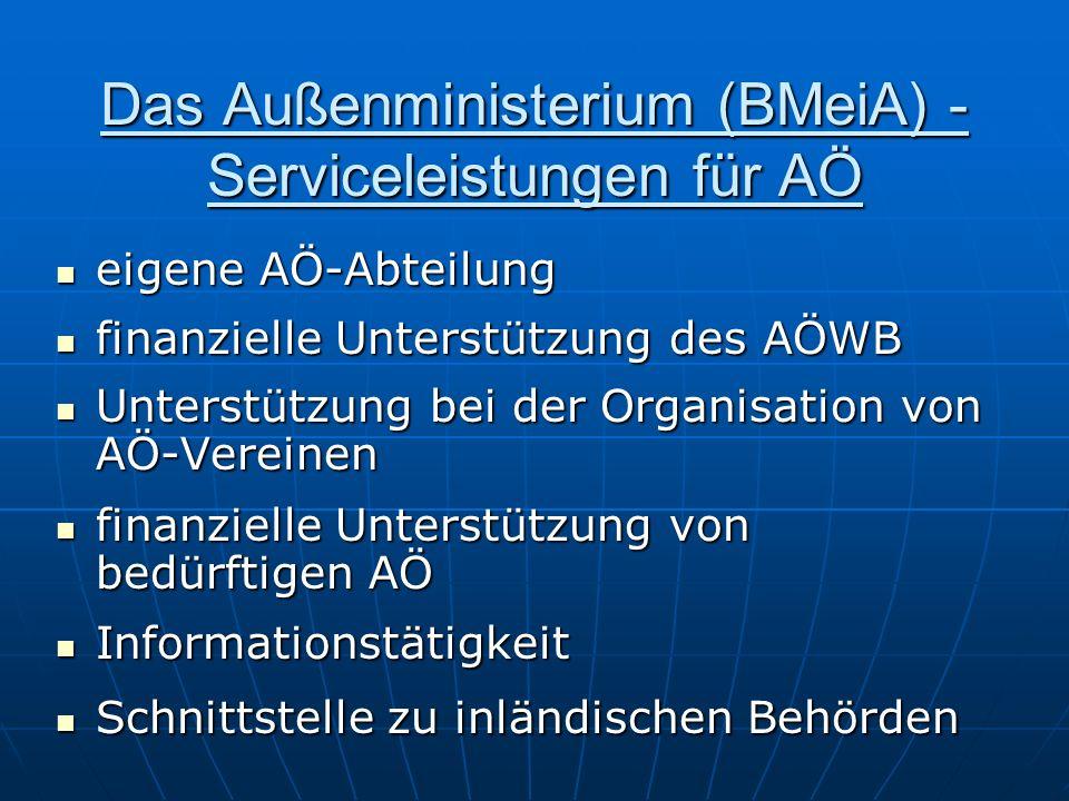 Das Außenministerium (BMeiA) - Serviceleistungen für AÖ