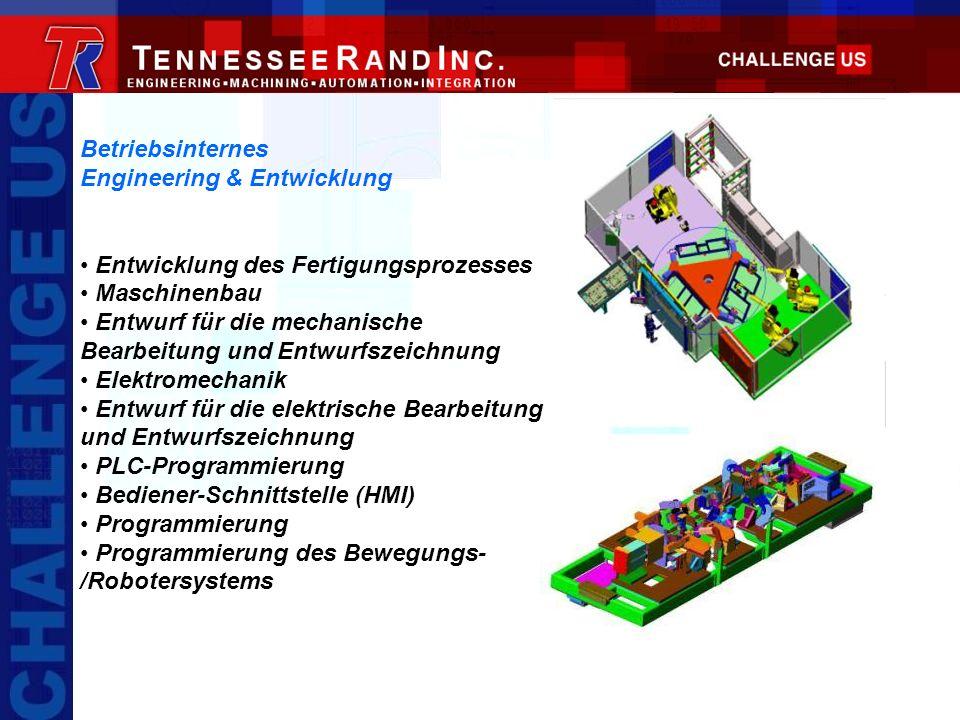 Betriebsinternes Engineering & Entwicklung. Entwicklung des Fertigungsprozesses. Maschinenbau.