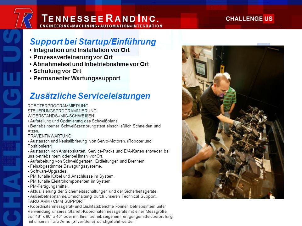 Support bei Startup/Einführung