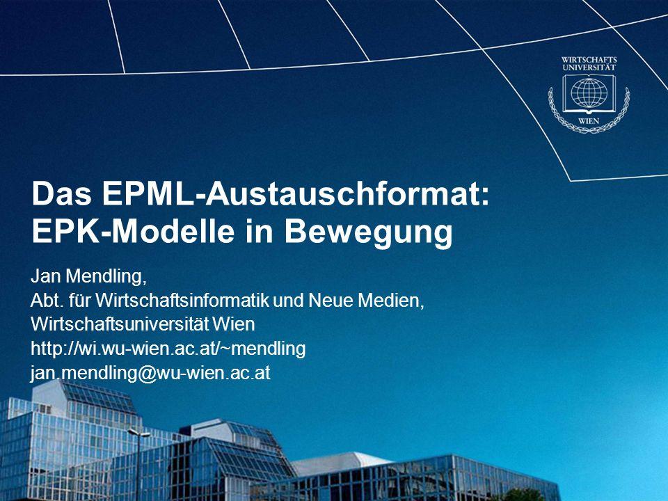 Das EPML-Austauschformat: EPK-Modelle in Bewegung
